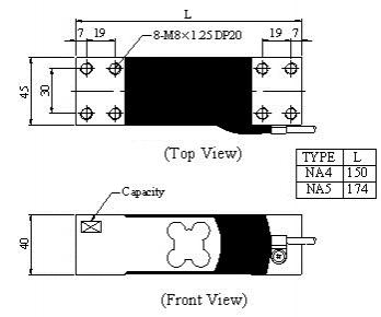 Mavin NA4 NA5 Loadcell ölçüler